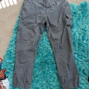 mens gray 40 x 32 nautica chino jogger pants CARGO